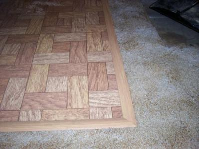 Floor Transition Hides Vinyl Tear