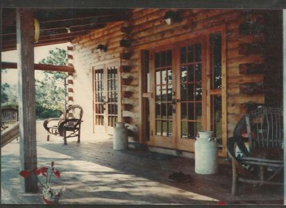 Log Home 1 -Porch