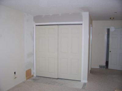 Bipass Doors Installed