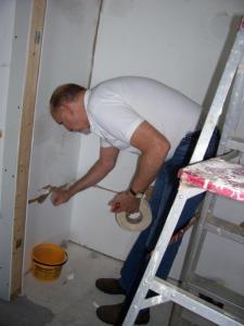 Brian Repairing Drywall