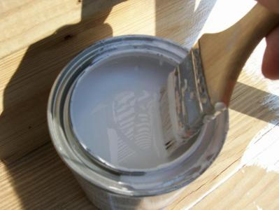 Dip Brush Part Way Into Can