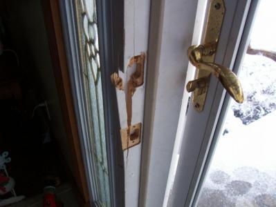 Repairing Busted Exterior Door Frame