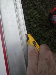 Utility Knife-Cut Prevents Chipping