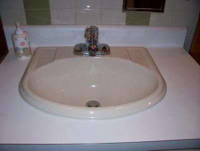 New Bath Sink Installed